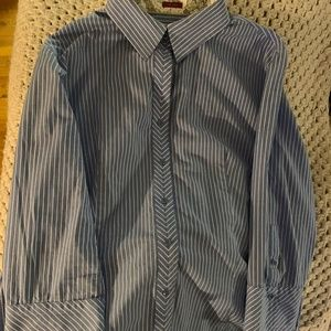 talbots darted blouse
